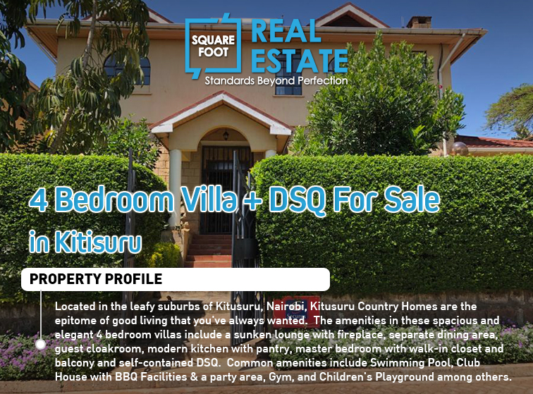 4 Bedroom Villa + DSQ For Sale in Kitusuru