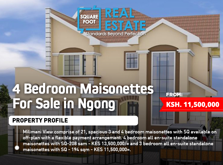 4 Bedroom Maisonettes For Sale  in Ngong