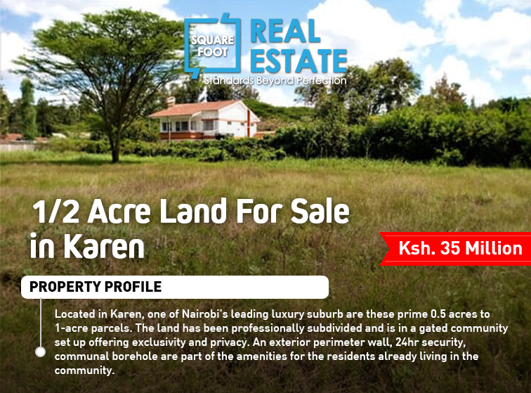 1/2 Acre Land For Sale in Karen