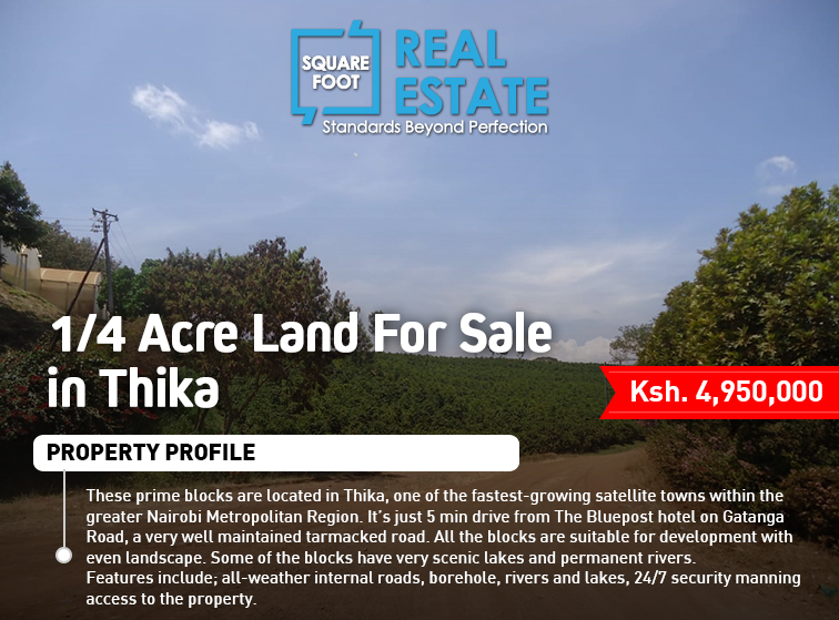 1/4 Acre Land For Sale in Thika